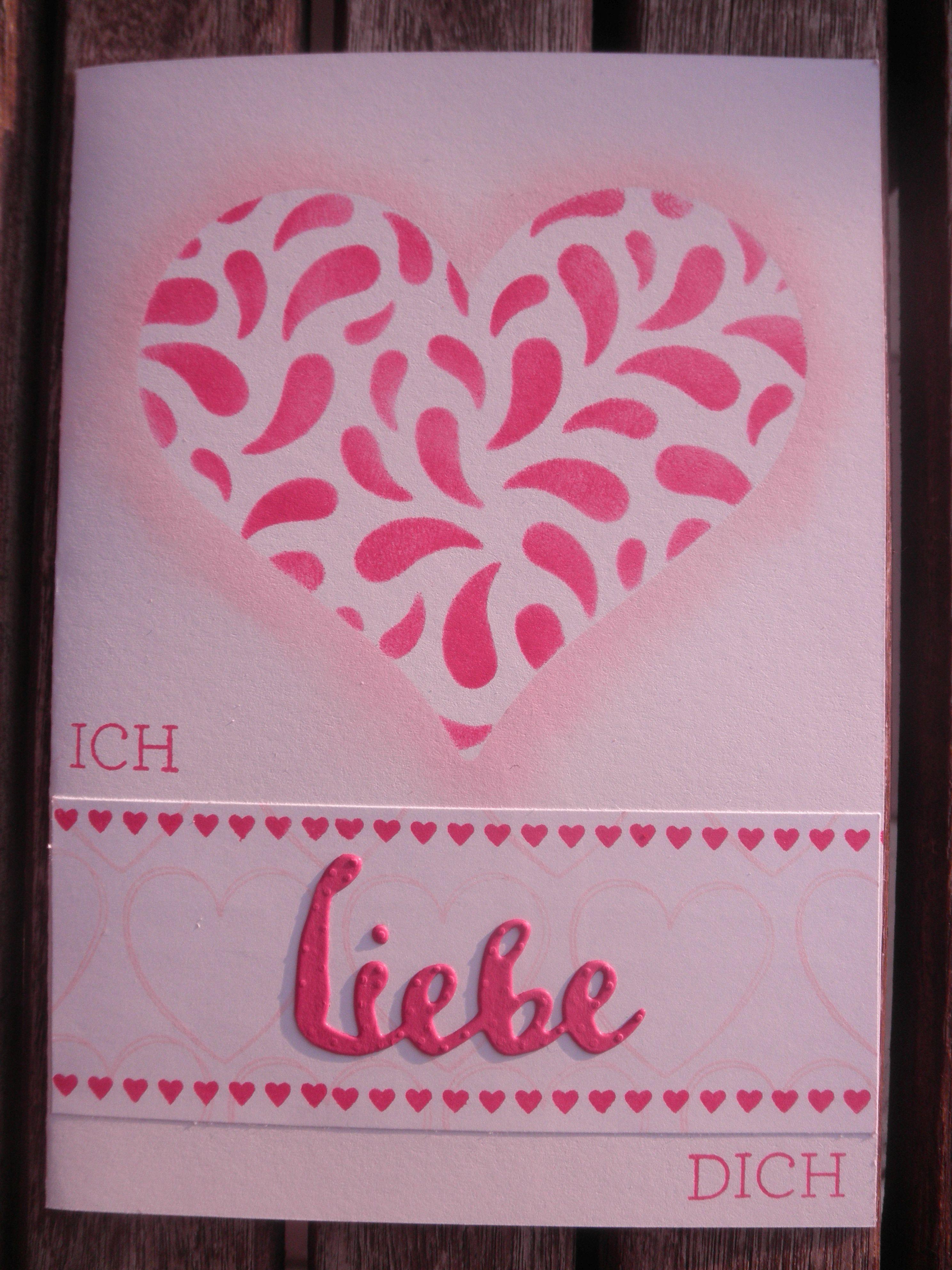 und eine weitere rosarote karte f r verliebte kunterbunte papiertr ume. Black Bedroom Furniture Sets. Home Design Ideas